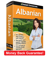 Instant Immersion's Albanian course is the best way to learn Albanian