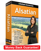 Instant Immersion's Alsatian course is the best way to learn Alsatian