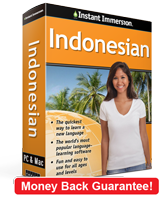 Instant Immersion's Indonesian course is the best way to learn Indonesian