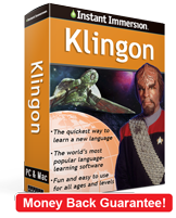 Instant Immersion's Klingon course is the best way to learn Klingon