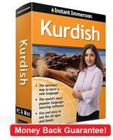 Instant Immersion's Kurdish course is the best way to learn Kurdish