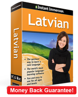Instant Immersion's Latvian course is the best way to learn Latvian