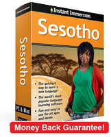 Instant Immersion's Sesotho course is the best way to learn Sesotho