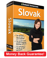 Instant Immersion's Slovak course is the best way to learn Slovak