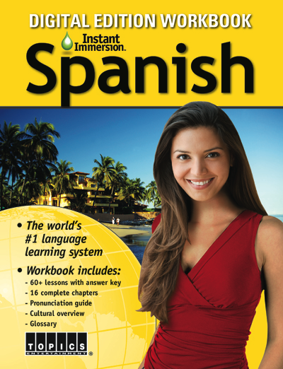 Add a Spanish Language Workbook to any course