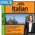 Speak intermediate Italian with this subscription product