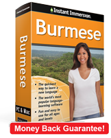 Instant Immersion's Burmese course is the best way to learn Burmese