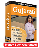 Instant Immersion's Gujarati course is the best way to learn Gujarati