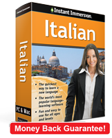 Instant Immersion's Italian course is the best way to learn Italian