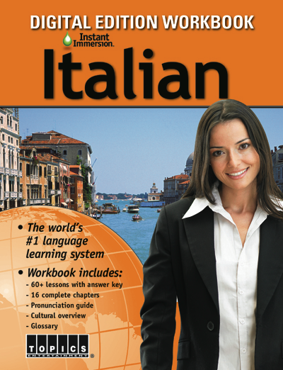 Add a Italian Language Workbook to any course