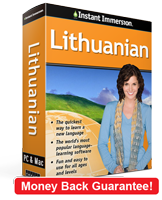 Instant Immersion's Lithuanian course is the best way to learn Lithuanian
