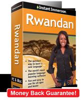 Instant Immersion's Rwandan course is the best way to learn Rwandan
