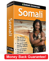 Instant Immersion's Somali course is the best way to learn Somali