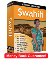 Instant Immersion's Swahili course is the best way to learn Swahili