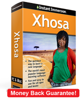 Instant Immersion's Xhosa course is the best way to learn Xhosa
